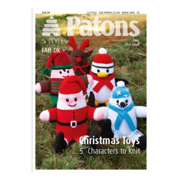 Patons Christmas Toy Knitting Pattern 3932 , 5 Characters